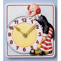 Mold, clock clown, 15.5 x 17cm, with clockwork and pointers