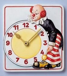 GIESSFORM / MOLDS ACCESOIRES Giessform, Wanduhr Clown, 15,5 x 17cm, mit Uhrwerk und Zeigern