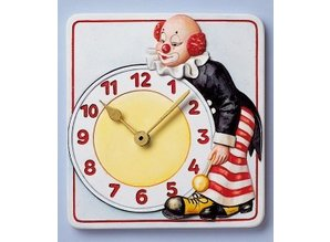 GIESSFORM / MOLDS ACCESOIRES Mold, clock clown, 15.5 x 17cm, with clockwork and pointers