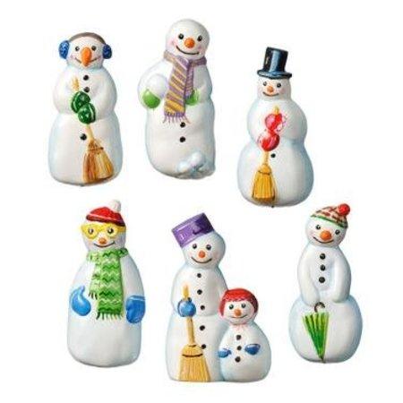 GIESSFORM / MOLDS ACCESOIRES Mold, muñecos de nieve, tamaño: 8,5 x 5 cm