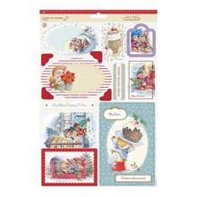 Docrafts / Papermania / Urban Toppers A4 Die-cut (2PK) - Wishes invernali