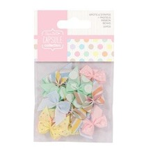 Embellishments / Verzierungen 20 Mini Bows, Ribbon Bows (20pcs)