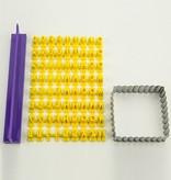 PATCHY Fragmentarisk silicone skimmel - Prägebuchstaben Set