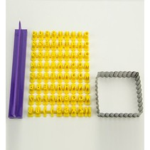 Patchy silicone mold - Prägebuchstaben Set