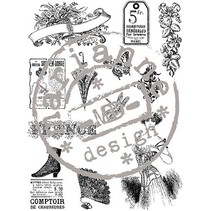 Clear stamps, Victorian Vintage