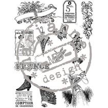 Clear stamps, viktoriansk Vintage