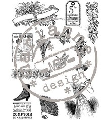 Stempel / Stamp: Transparent Timbri trasparenti, vintage vittoriano