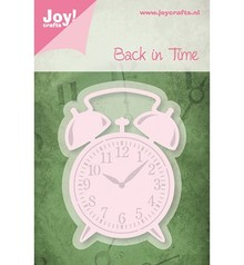 Joy!Crafts und JM Creation Taglio e goffratura stencil Alarm Clock