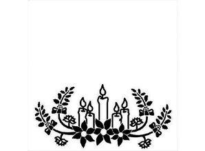 embossing Präge Folder Embossing Folder 130x130mm - Christmas candles