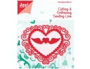 Joy!Crafts und JM Creation Stempling og Embossing Stencil Heart