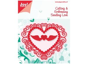 Joy!Crafts und JM Creation Stempling og Embossing Stencil Heart