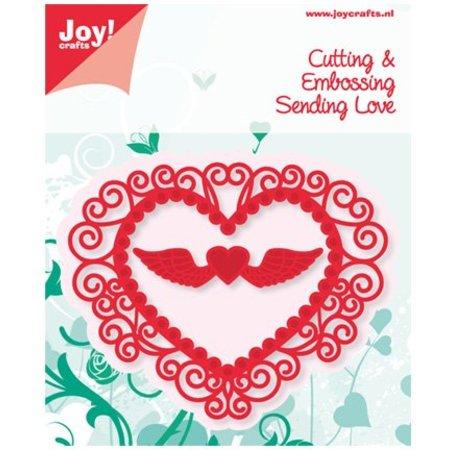 Joy!Crafts und JM Creation Estampado y corazón en relieve Stencil