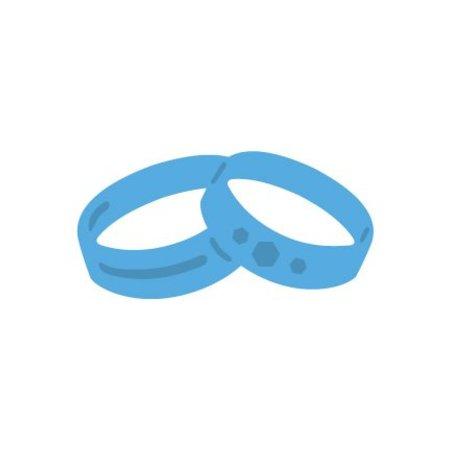 Marianne Design Los anillos de boda de punzonado y de la plantilla de estampado