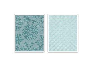 Sizzix 2 Embossing Folder 11,43x14,61 cm, snefnug og stjerner