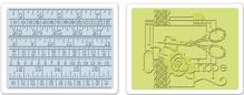 Sizzix 2 goffratura cartella 11,43x14,61 cm, cucire e nastro di misurazione Set