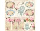 Designer Papier Scrapbooking: 30,5 x 30,5 cm Papier Tempo Vintage, carta di design, 30,5 x 30,5 centimetri