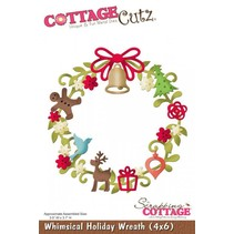 Stamping and Embossing Stencil, Christmas Wreath Motif Size: 8.9 x 9.4 cm
