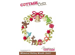 Cottage Cutz Stamping and Embossing Stencil, Christmas Wreath Motif Size: 8.9 x 9.4 cm