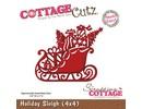 Cottage Cutz Stanz- und Prägeschablone, Weihnachtsschlitten Motiv Größe: 9,1 x 7,6 cm