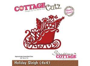 Cottage Cutz Estampado y relieve de la plantilla, con motivos de Navidad trineo Tamaño: 9,1 x 7,6 cm