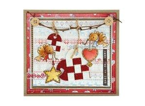 Marianne Design Marianne diseño, estampado y gofrado stencil, Craftables - corazones escandinavos de Eline