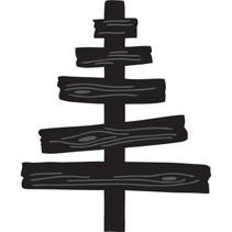 Marianne Diseño, estampación y cliché de estampado, Craftables - árbol de madera de Eline