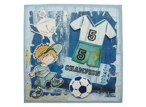 Marianne Design Marianne Design, stamping and embossing stencil, Collectables, Fussbal