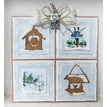 Marianne Design, het stempelen en embossing stencil, Craftables - Tiny's Birdhouse