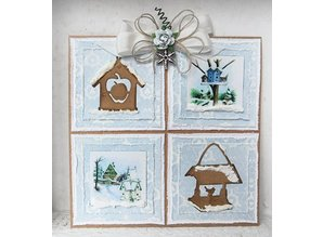 Marianne Design Marianne Design, stamping and embossing stencil, Craftables - Tiny's Birdhouse