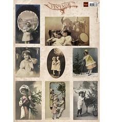 Vintage, Nostalgia und Shabby Shic Vintage og nostalgi, Tiny Vintage Julekort