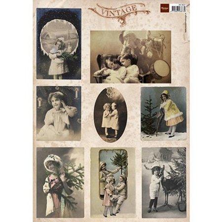 Vintage, Nostalgia und Shabby Shic Tarjetas de Navidad de la vendimia y la nostalgia, de Tiny
