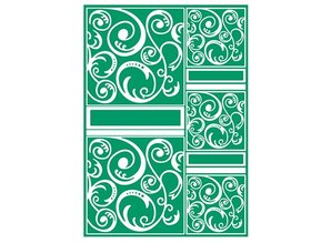 embossing Präge Folder A4 Carpeta de grabación en relieve, A4 Craft Bueno - Swirltangle