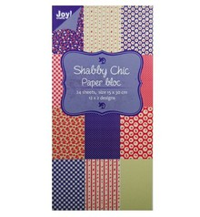 Joy!Crafts und JM Creation Paper bloc, 15x30cm - Shabby Chic (blue)