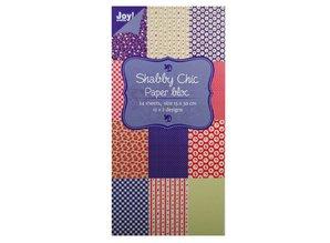 Joy!Crafts und JM Creation Paper bloc, 15x30cm - Shabby Chic (blau)
