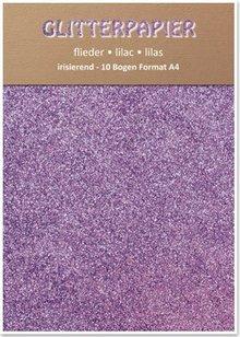 DESIGNER BLÖCKE  / DESIGNER PAPER Glitter carta iridescente, A4, 150 g / m², lilla