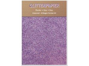 DESIGNER BLÖCKE  / DESIGNER PAPER Glitter iridescent paper, format A4, 150 g / sqm, lilac