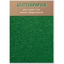 Papel brillo iridiscente, A4, 150 g / m², verde