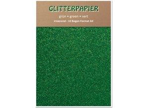 DESIGNER BLÖCKE  / DESIGNER PAPER Papel brillo iridiscente, formato A4, 150 g / m², verde