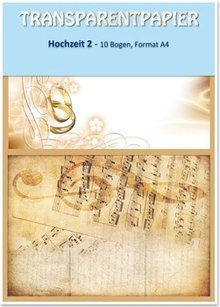 REDDY Carte trasparenti, stampati, matrimonio 2, 115 g / m²