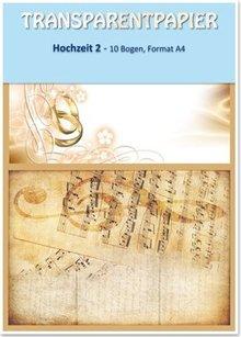 REDDY Transparentpapiere, bedruckt, Hochzeit 2, 115 g / qm