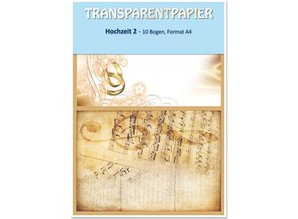 REDDY Transparent papers, printed, wedding 2, 115 g / m²