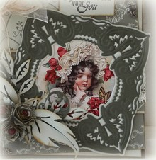 Joy!Crafts und JM Creation Stamping and embossing stencil, Craftables - a beautiful frame