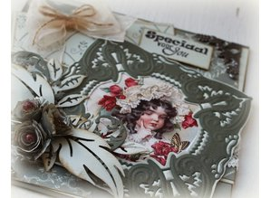 Joy!Crafts und JM Creation Stamping and embossing stencil, Craftables -a magnificent setting