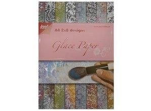 Joy!Crafts und JM Creation papel glace, diseños 2x8 A4