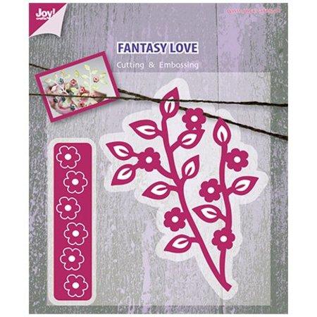 Marianne Design Marianne Design, Stanz- und Prägeschablone, Zweig mit Blumen