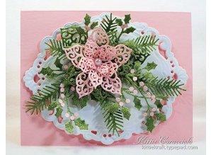 Marianne Design Repujado y puñetazos plantilla, elegante, marco decorativo ovalada