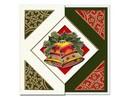 KARTEN und Zubehör / Cards Un conjunto de 5 cartas y sobres en Navidad verde, rojo o crema