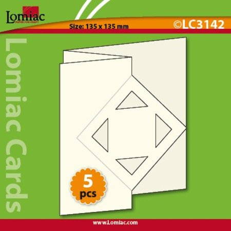 KARTEN und Zubehör / Cards Ein Set mit 5 Karten und Umschläge in Weihnachtsgrün, rot oder creme