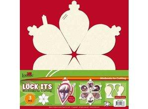 Scrapbooking ... 3 mini scrapbog bog i form af et juletræ, jul klokke og christmas ball!