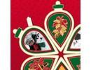 Scrapbooking ... 3 mini-libro libro de recuerdos en forma de un árbol de navidad, campana de Navidad y bola de Navidad!